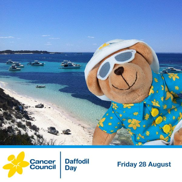 The final stop on Holiday Dougal's great Australian adventure was Rottnest Island in Western Australia. Holiday Dougal has enjoyed exploring Australia with you, and thanks you for supporting Daffodil Day!
