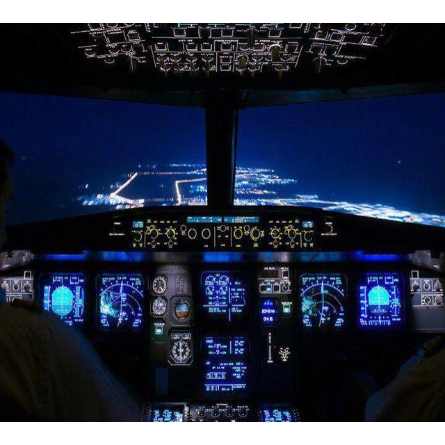 Boeing 737 flight deck.