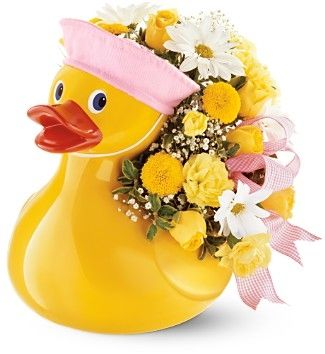 New Baby Flowers Delivery-Flowers For The New Born Baby To Invite The New Baby In This World #flowers