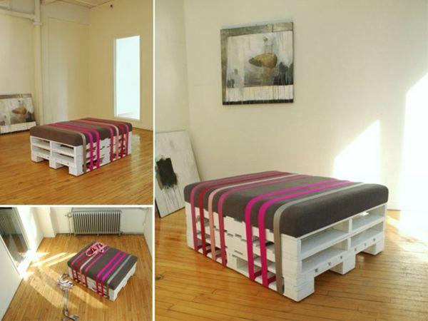 holz paletten möbel selbst basteln sitbank ohne rückenlehne