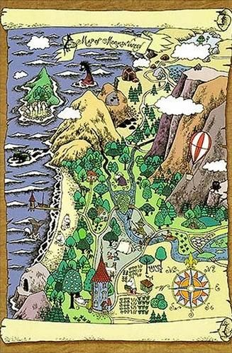Hey @Karyn Dossinger: Moomin Valley Map via hagerstenguy