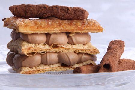 Μιλφέιγ σοκολάτα - Συνταγές | γλυκές ιστορίες