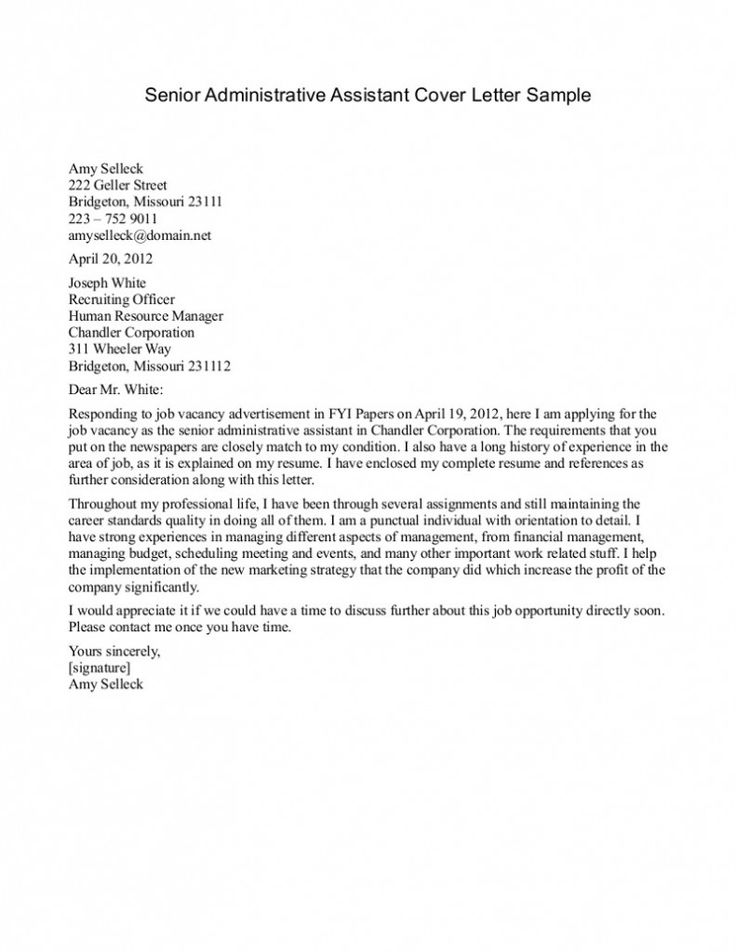 95 best Cover letters images on Pinterest Cover letter sample - simple cover letter example