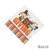 Peanuts Thanksgiving Napkins Lunch 16 Count Paper Party Napkins