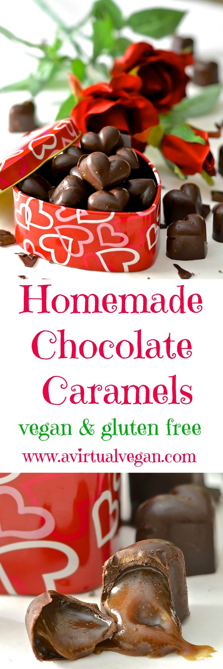Rich & gooey homemade vegan chocolate caramels. So decadent & delicious and surprisingly easy to make. Perfect as an indulgent treat or as a gift for someone special.