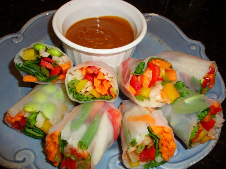 Roasted Daikon Radish And Kale Spring Rolls With Tahini-Honey Dipping ...