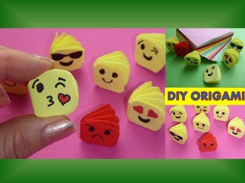 DIY ORIGAMI EMOJI MINIATUR NOTEBOOK GIFT IDEAS MOTHER'DAY QUICK EASY; MINI NOTIZBUCH SCHNELL/EINFACH - YouTube