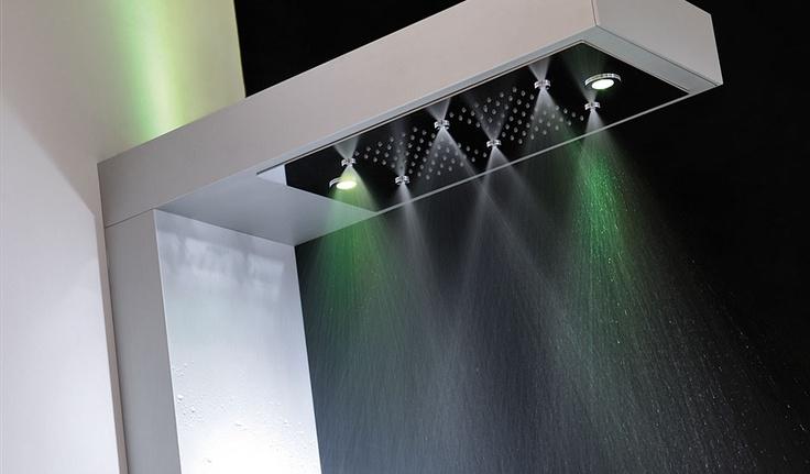 VIVA: colonna doccia con miscelatore termostatico, cromoterapia e aromaterapia