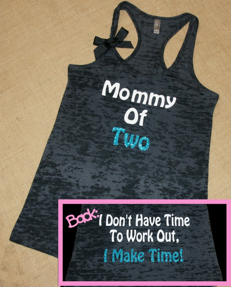 Mommy. Don't have time to workout, make time. Glitter. Bow. Tank. Racerback. Size S-2XL. Burnout. Black. Exercise. Workout. Fitness. Mom.. $24.00, via Etsy. getting.