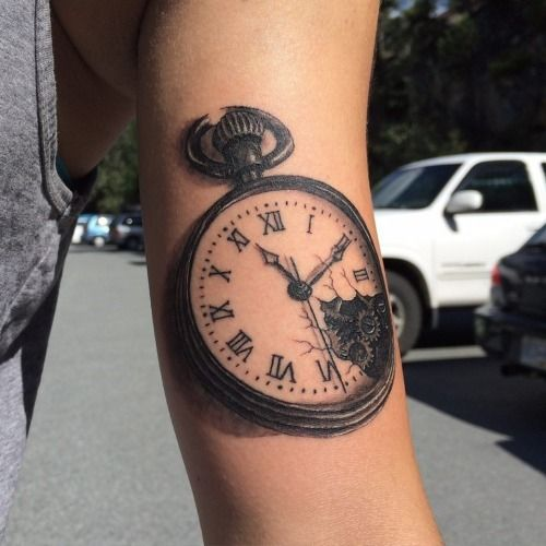 Arm watch tattoo by tyler atd beautiful body art for Minimalist tattoo artist austin