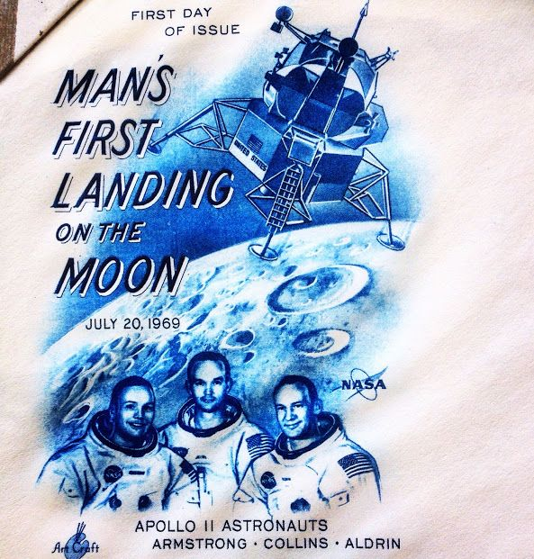 First day cover stamp by the USPS for the Apollo 11 moon landing. #moonlanding #astronauts #apollo11 #nasa