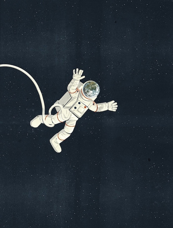drawing of astronaut floating in space - photo #15