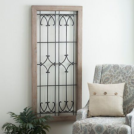 Our ornate faux windowpane plaque is a bold rustic focal piece that will really make a statement its delicate metalwork will bring country style to any