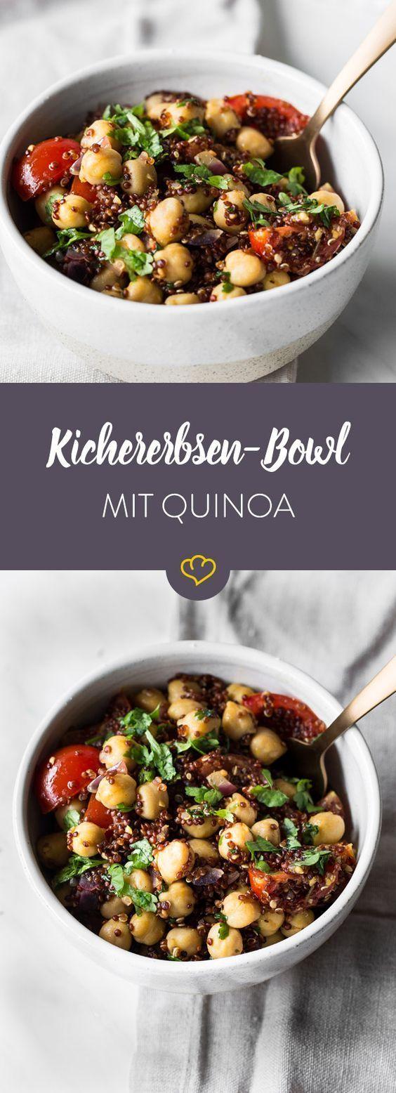 Tigela de grão de bico colorido com quinoa   – Rezepte