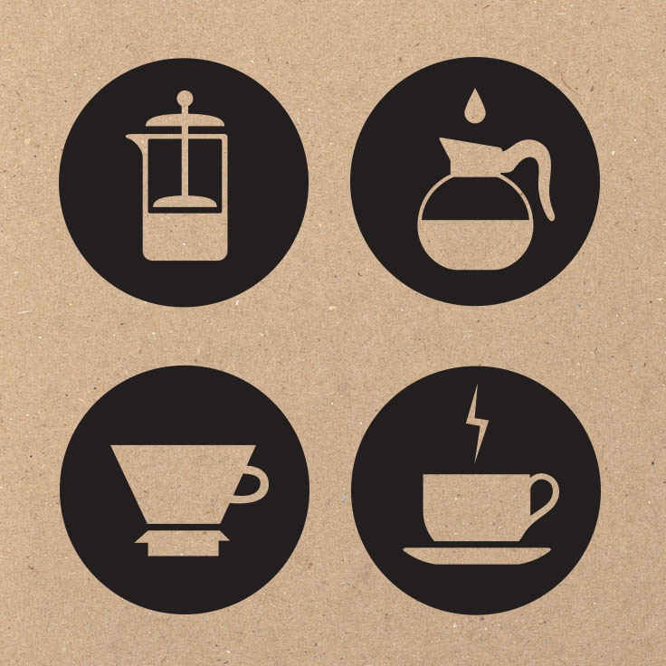 Coffee Brewing Method Icons