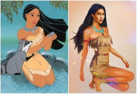 Puteri Pocahontas di Pocahontas. Cantik, seksi dan menarik ya