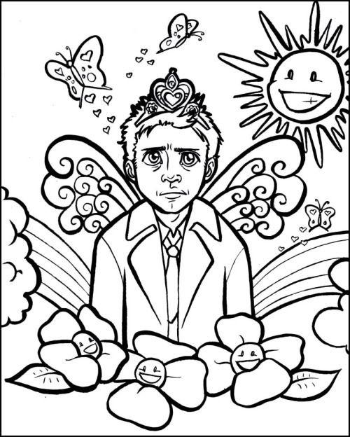 Spn cas princess print later pinterest seasons for Supernatural coloring pages