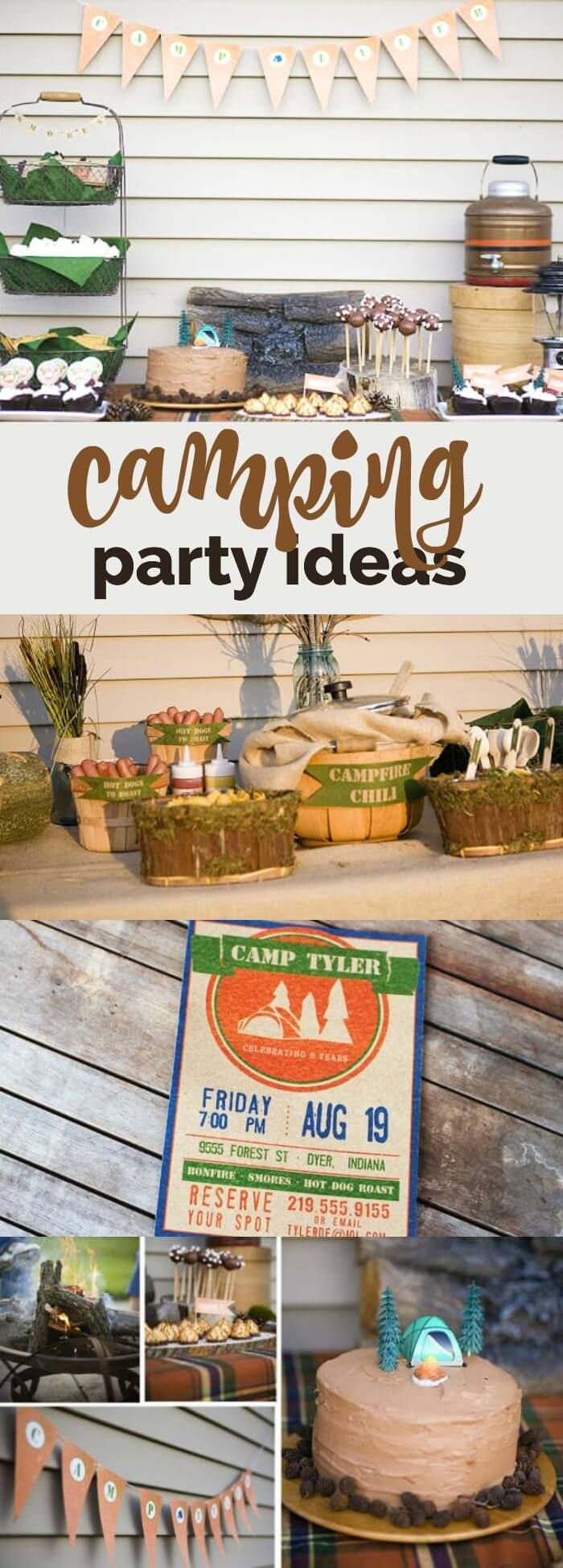 An Awesome Outdoor Camping Birthday Party