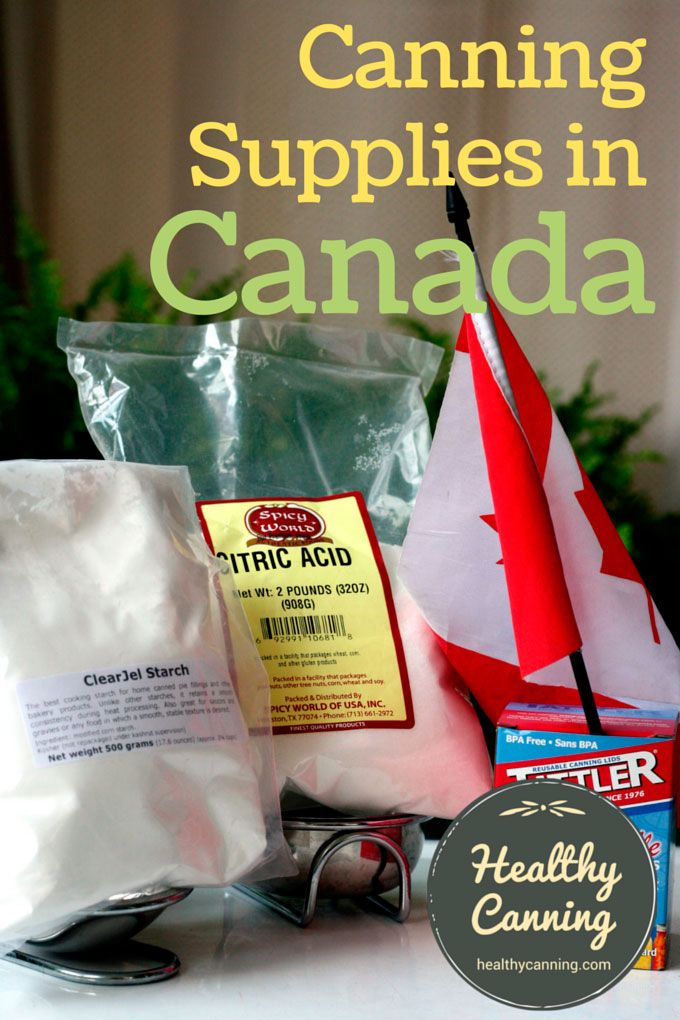 Contents1 Canning supply vendors2 Clearjel in Canada3 Pomona's Pectin in Canada4 Pressure Canners5 Canadian Recipe Sources6 Canadian Resources Canning supply vendors Overall, Canadians are as well-supplied as Americans are for canning supplies, and at similar costs. For the past several decades, the leading vendor by sales volume in Canada of basic supplies, such as...Read More »