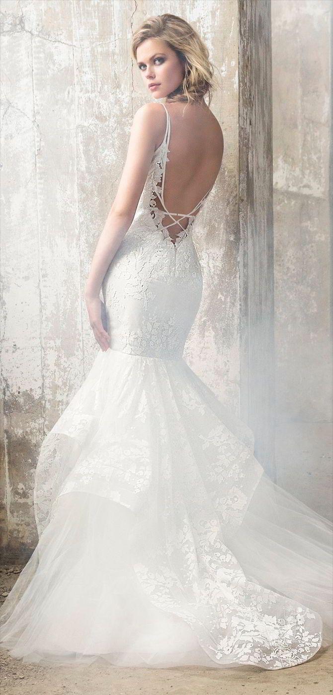 388 best Fit & Flare Wedding Dresses images on Pinterest   Wedding ...
