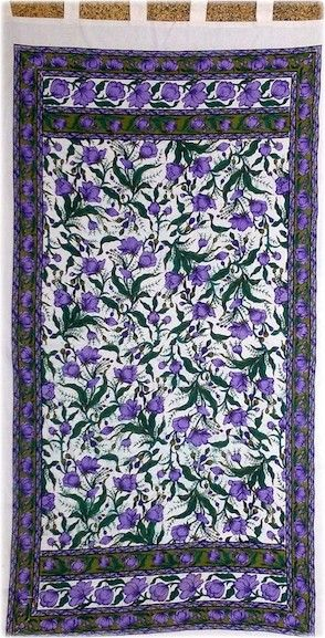 French Floral Design - Purple - Curtain, 44 in. x 88 in., SKU: 005978