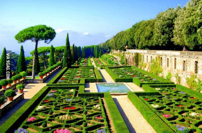 Renaissance garden in the Vatican