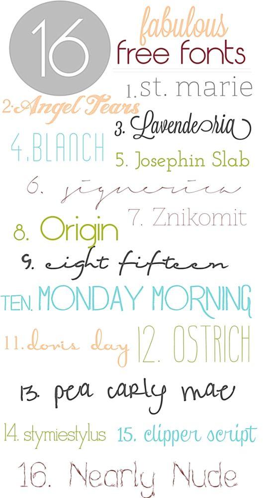 fabulous {free} fonts