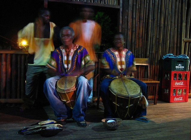 Placencia (Belize). 'Live music is definitely on the menu in the bars of  Placencia on Friday and Saturday  nights, when the town rocks  past midnight to the sounds  of punta, reggae, Garifuna  drumming and more.' http://www.lonelyplanet.com/belize/southern-belize/placencia