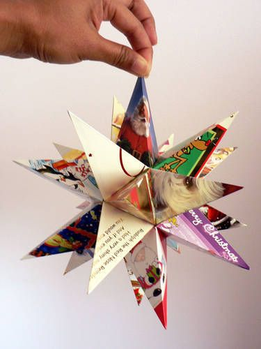 Can use this for the 100s of cards I've saved through the years ;-)  Recycled christmas card star
