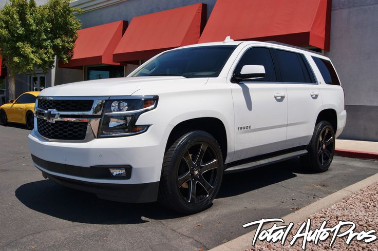 "2015 Chevrolet Tahoe with 22"" Black Rhino Wheels and 285 ..."