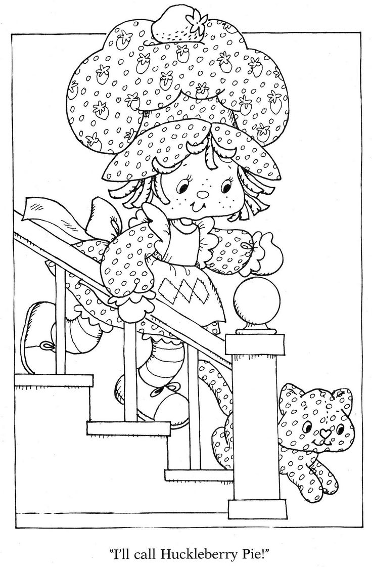 Coloring pages queen elizabeth 1 - Vintage Kenner American Greetings Strawberry Shortcake Strawberry Shortcake S Winter Fun Coloring Book