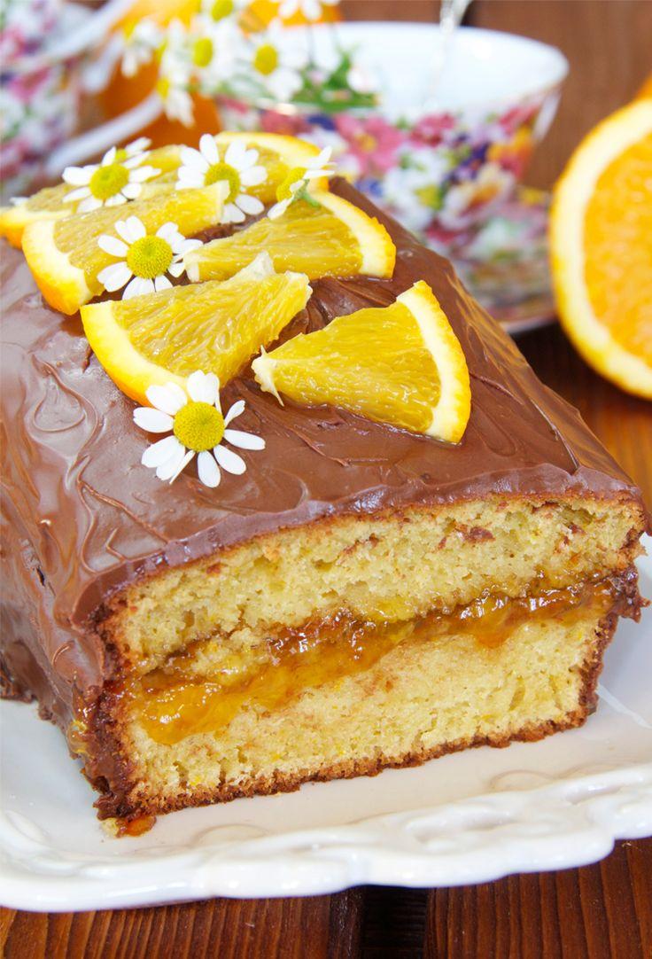 Bizcocho de naranja y chocolate | Dulce sentimiento