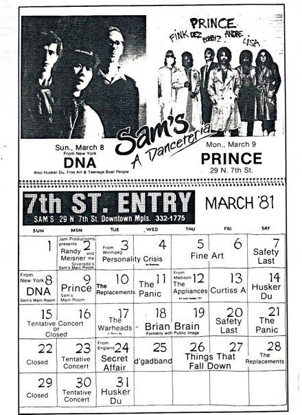 """1981 at Sam's - then called """"A Danceteria""""."""