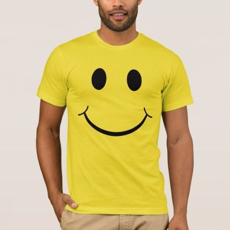 Classic 70's Smiley Happy Face T-Shirt - tap, personalize, buy right now!