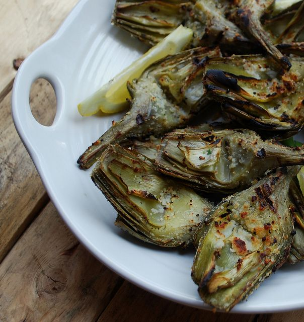 Grilled artichokes 4 | Flickr - Photo Sharing!