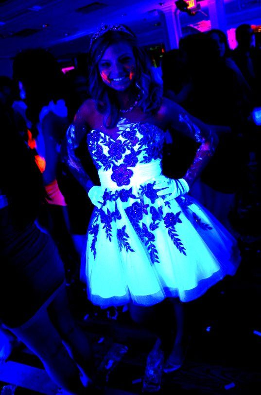 Blacklight party dress(: | Plans For The SwEeT SiXtEeN