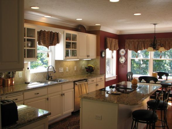 Southern Colonial After Remodel Updated Southern Colonial Kitchen With New Granite Travertine