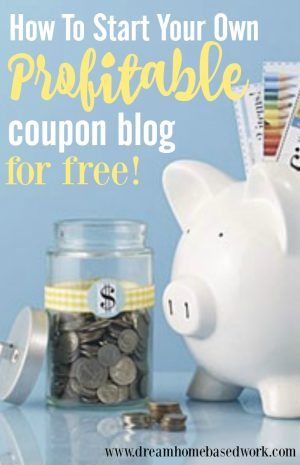 Lots of people love #free #online #coupons. By starting a free coupon blog, you can add the newest coupons and make money when your readers print them. Great for stay at home moms!