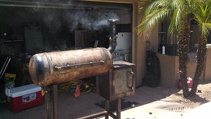 Reverse Flow Smoker Built From An Old Propane Tank And