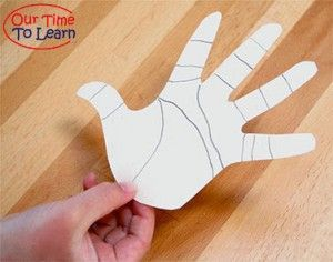 Learn about the lines in your skin with this activity/craft - Our Time to Learn weekly blog with educational crafts and activities. Preschool, kindergarten, human body, human anatomy, body systems, about me