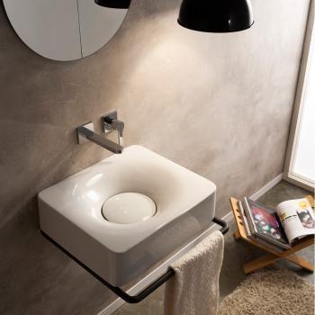 Scarabeo Fuji 50 Aufsatz- oder Hängewaschbecken weiß, ohne Hahnloch 254.-