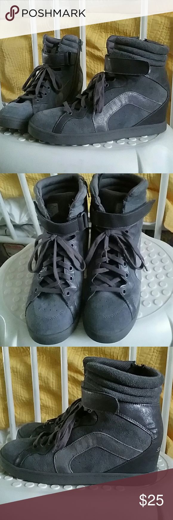 Hidden wedge sneakers Skechers SKCH+3 hidden wedge sneakers women's size 8 slightly used but in great condition, price is negotiable ? Shoes Wedges