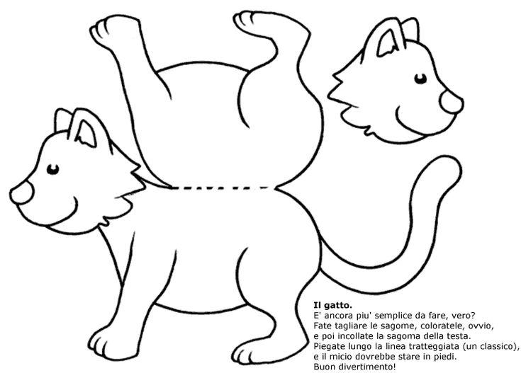 Disegni da colorare per bambini racconto for Gatto da colorare per bambini