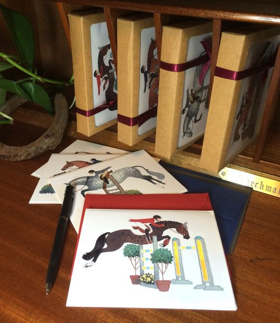The Greeting Card: Gift Set of 8 Handmade by TheArtfulEquine