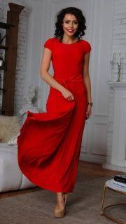 """Платье """"Лаура"""" 6107-1-9-макси красный"""