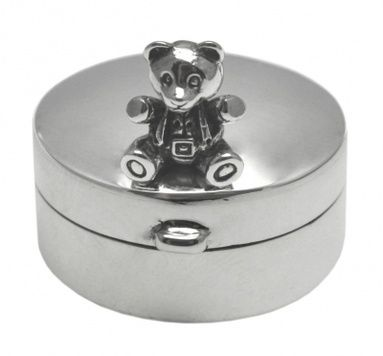 Box - TOOTH TEDDY - Sterling Silver
