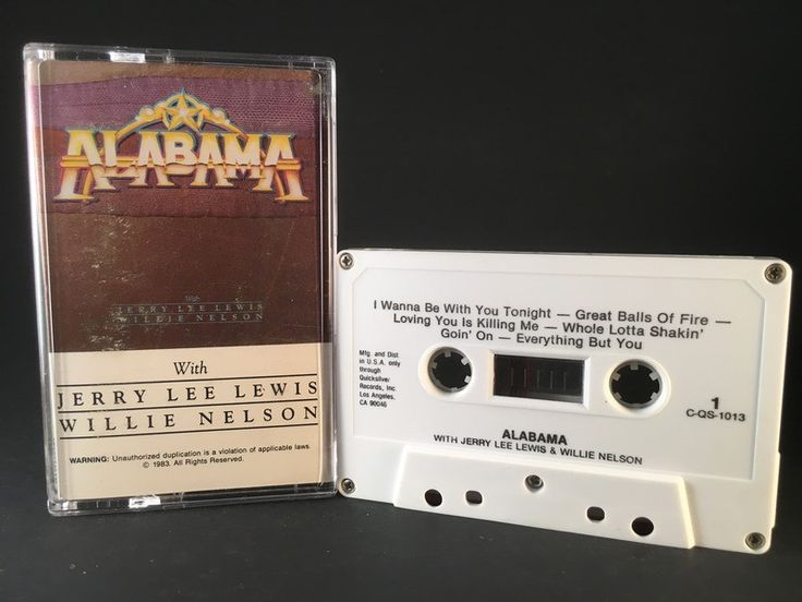 ALABAMA - w/ jerry lee lewis & willie nelson - CASSETTE TAPE