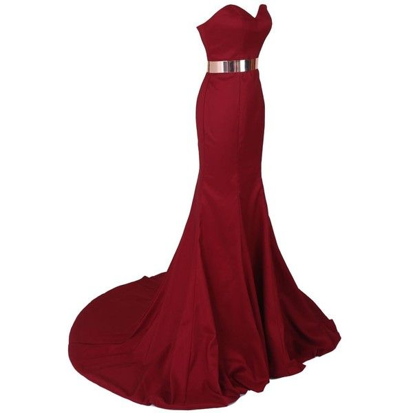 Dresstells Women's Mermaid Satin Dress Prom Dress Evening Gown ($132) ❤ liked on Polyvore featuring dresses, gowns, long dresses, vestidos, vestidos longos, red gown, red dress, satin gown, prom ball gowns and masquerade ball gowns