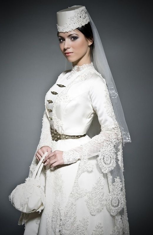 Ingush bride in traditional costume.
