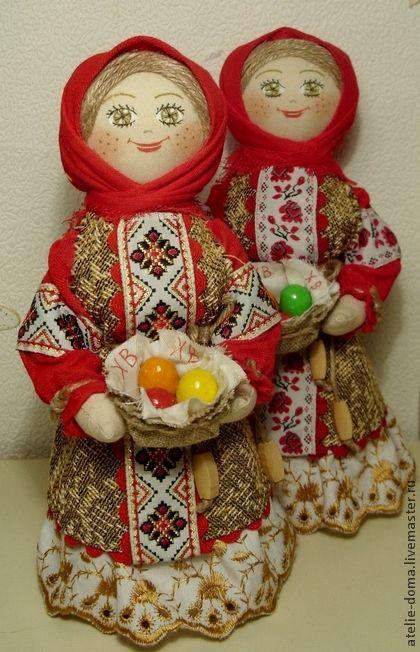 Пасха - набивная текстильная кукла ручной работы